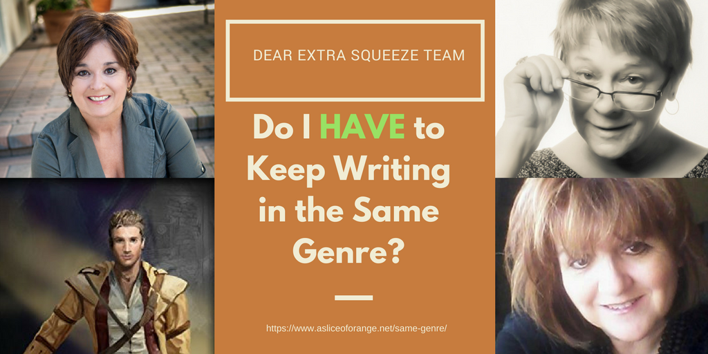 Do I have to write in the same genre? | The Extra Squeeze Team | A Slice of Orange