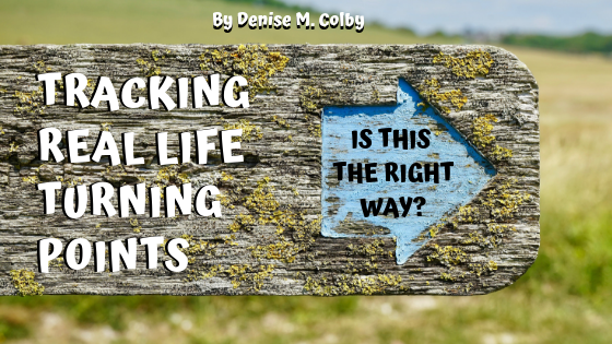 Wooden Arrow Sign pointing to right asking Is This The Right Way? Life is full of turning points blog post by Denise M. Colby