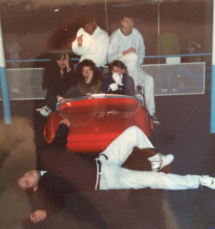 People on Autopia car at Disneyland 1992. This pic shows the night Denise M. Colby met her husband. She was not looking for love, but she found it.
